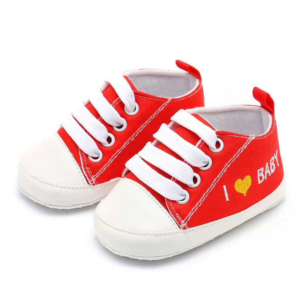 7570c52b8a7e1 Amazon.com: WEUIE Baby Boys Girls Canvas Sneaker Infant Toddler Anti ...