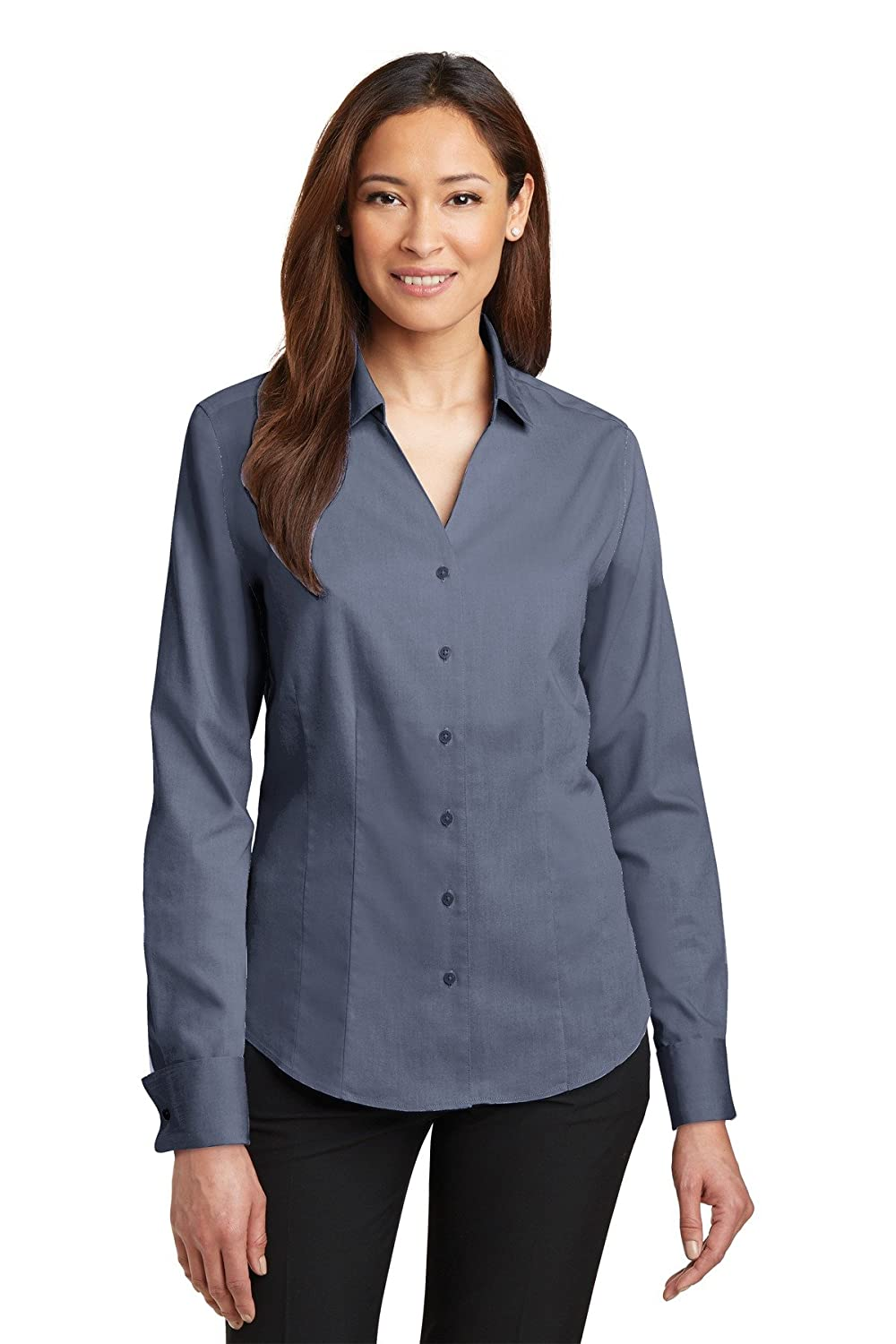 Red House Women's French Cuff Non Iron Pinpoint Oxford