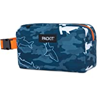 PackIt PKT-SX-CAS Freezable Snack Box Bag, Camo Sharks