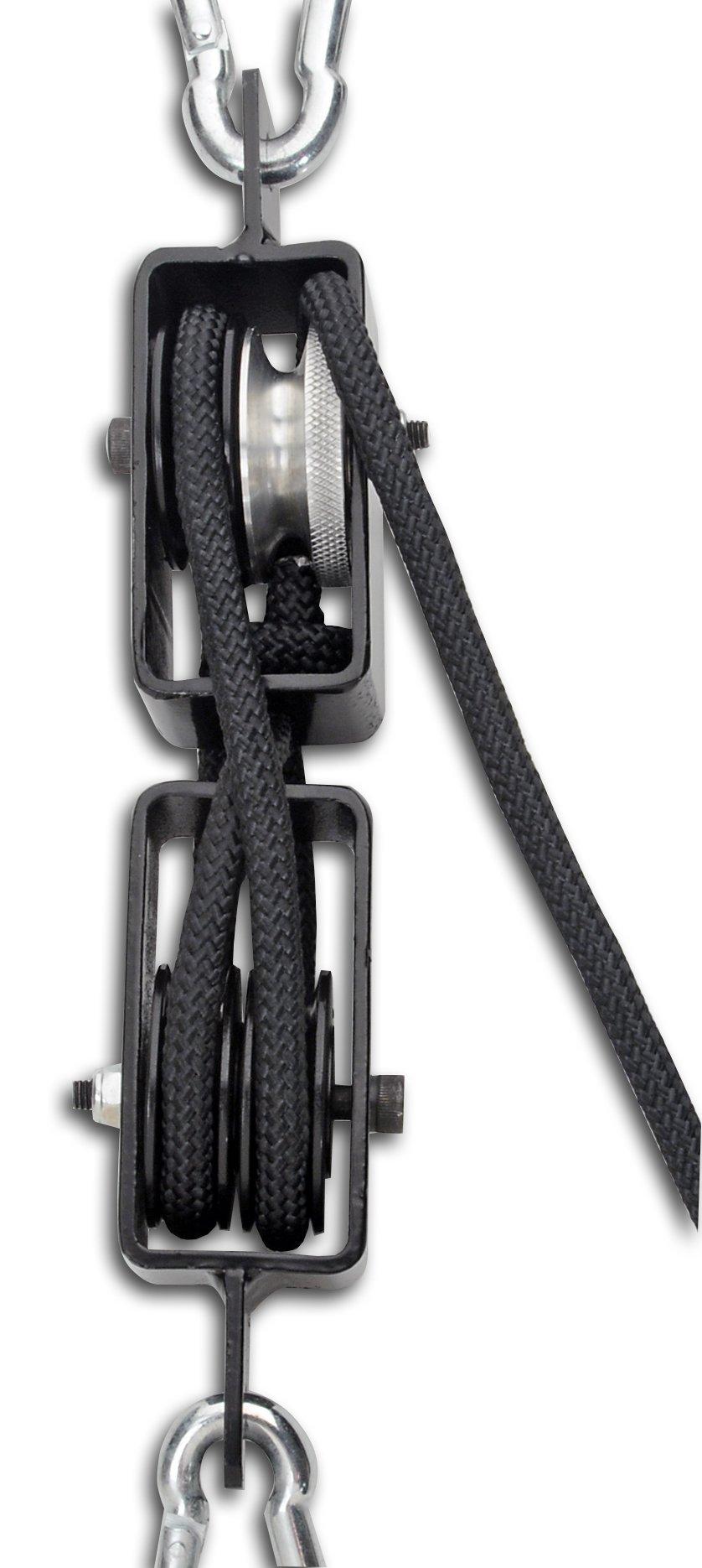 CRKT Hoist'N Lok Big Game Hoist Hunting Game Hoist, 4:1 Mechanical Pulley, Secure Cam Lock, Gambrel and Rope HOIST1