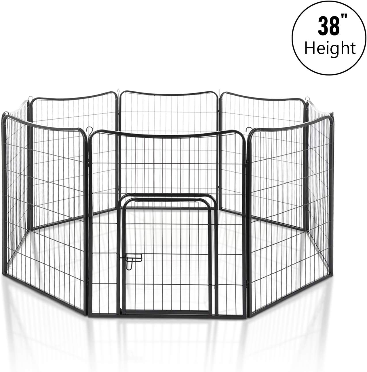 LAZY BUDDY Dog Playpen, Pet Playpen, 4-16 Pannels Fordable Pet Excerise Pen for Small Big Dogs and Other Pets