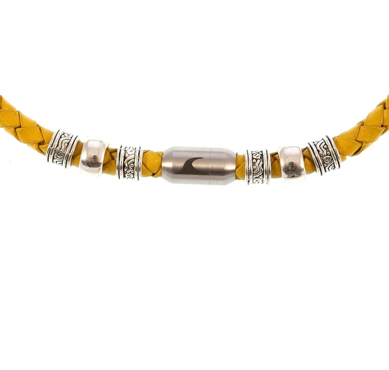 b4d69dc411cb 85% OFF wavepirate® Piel de collar Charm F Amarillo plata hombre ...