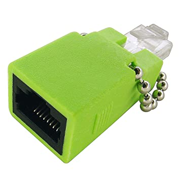 amazon com shaxon t1 e1 crossover adapter rj48c jack to rj45 male shaxon t1 e1 crossover adapter rj48c jack to rj45 male light green matecfm