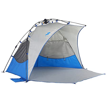 Mobihome Beach Tent Sun Shelter Instant Quick Up, Sand Surf Beach Tents Umbrella Canopy Easy Setup for Outdoor Camping Fishing, Portable Shade – Extended Porch Included