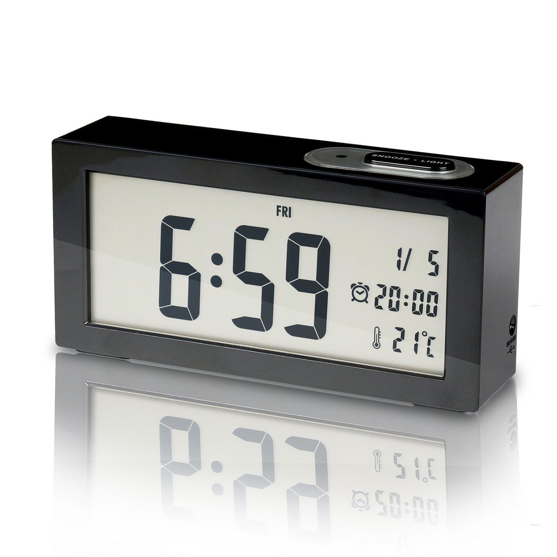 amazoncom sunyin digital alarm clockminimalistic and modern  - amazoncom sunyin digital alarm clockminimalistic and modern with nightlightblack home  kitchen