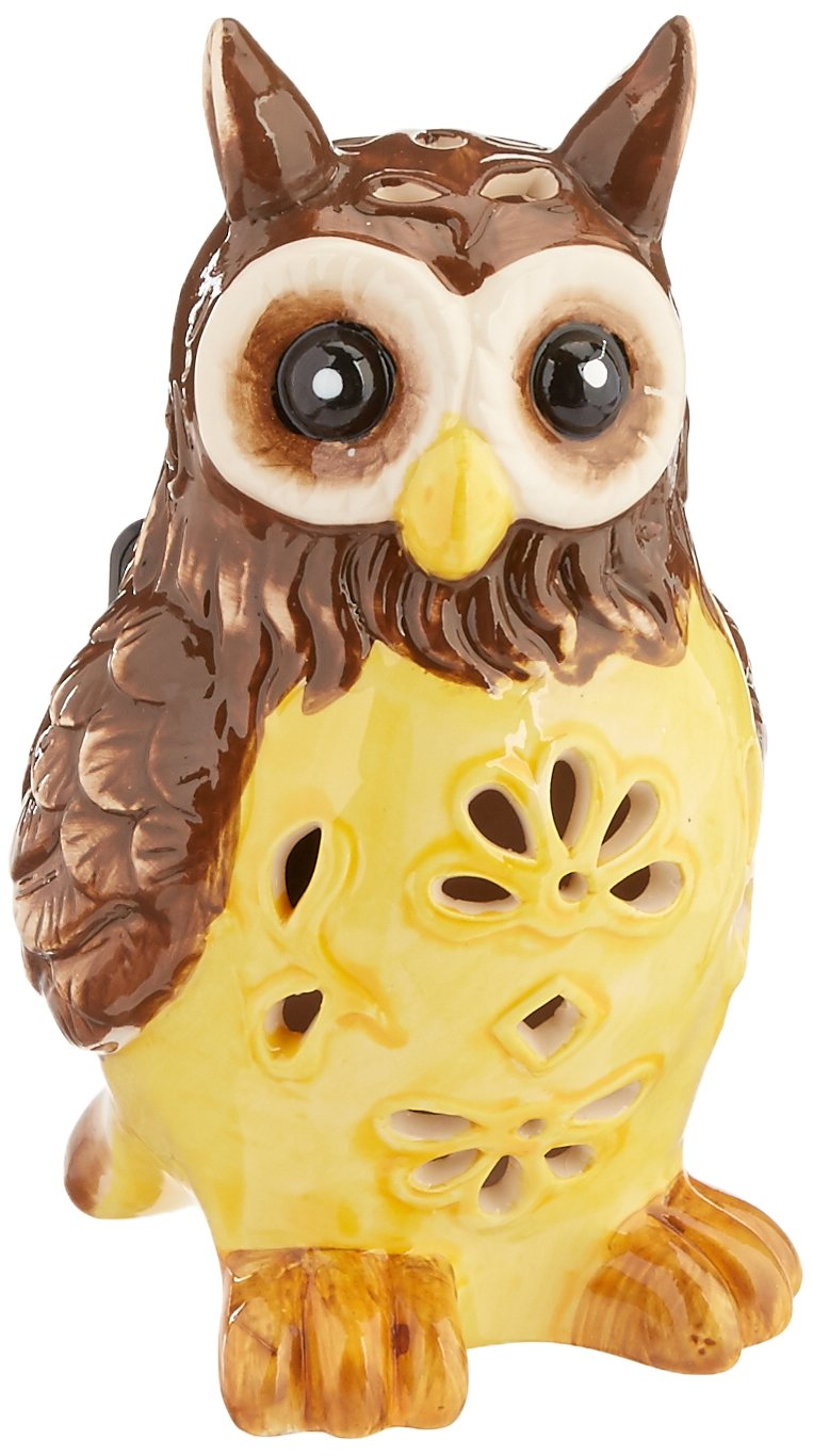 Flipo Solar Illuminated Color Changing Solar Light in Ceramic Figurine, Owl