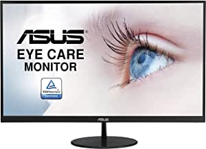 ASUS VL279HE 27-inch Eye Care Monitor, IPS, 75Hz, Adaptive-Sync/FreeSync, Frameless, Slim, Wall Mountable, Flicker Free, Blue Light Filter
