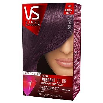 vidal sassoon london luxe hair color dark brown hair vidal sassoon pro series ultra vibrant hair color kit 3vr london luxedeep velvet amazoncom kit