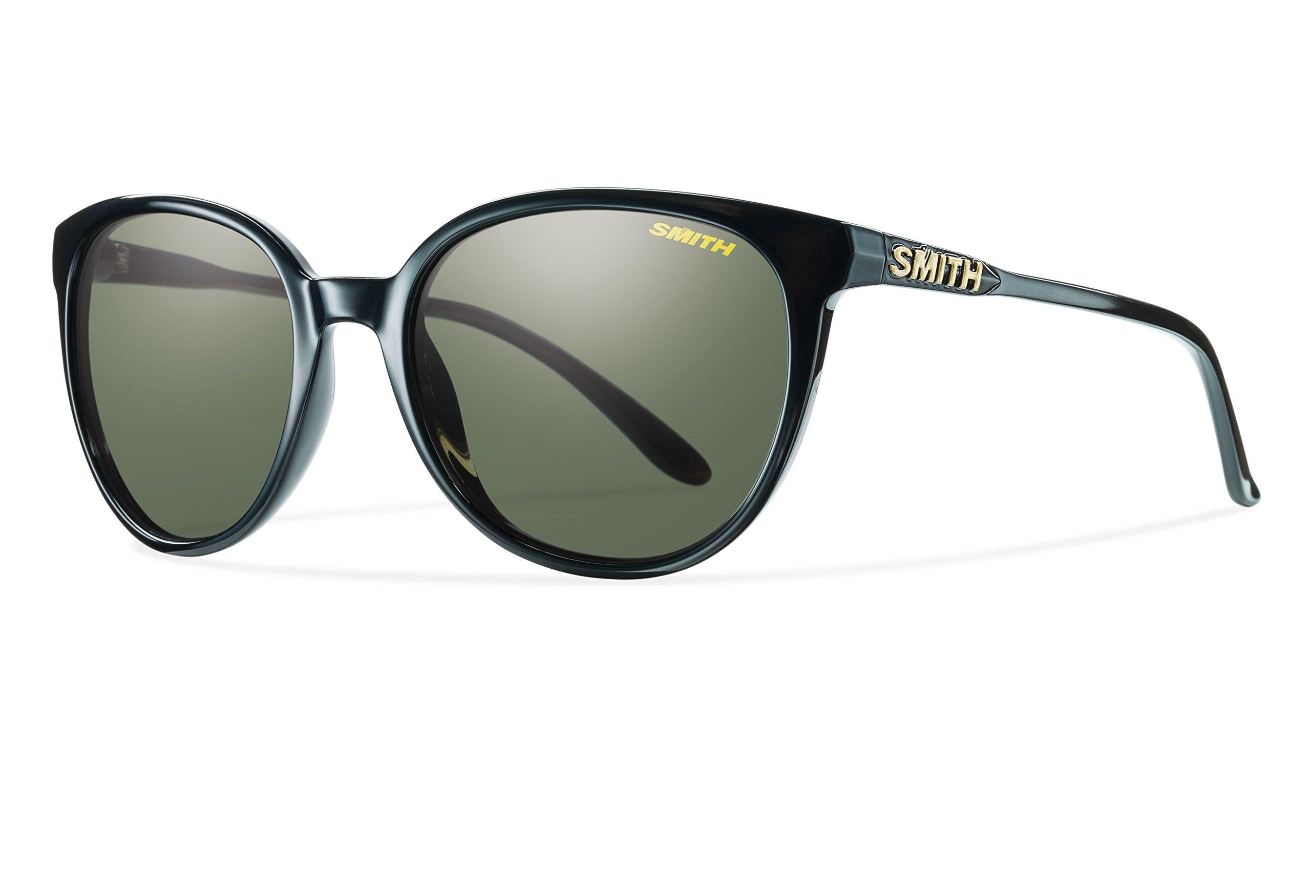 Smith Optics Smith Cheetah Sunglasses, Black Frame, Carbonic Polarized Gray green Lens, Gray green