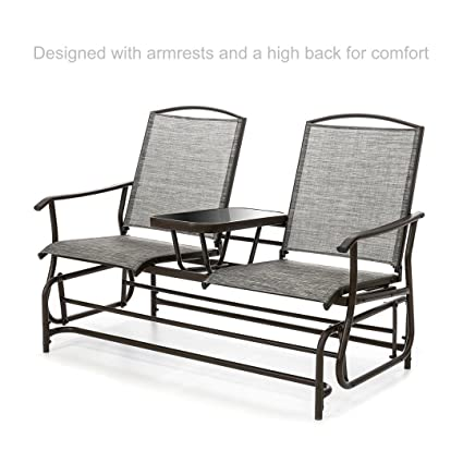 Marvelous Amazon Com Koonlert Shop Outdoor Patio 2 Person Rocker Ibusinesslaw Wood Chair Design Ideas Ibusinesslaworg