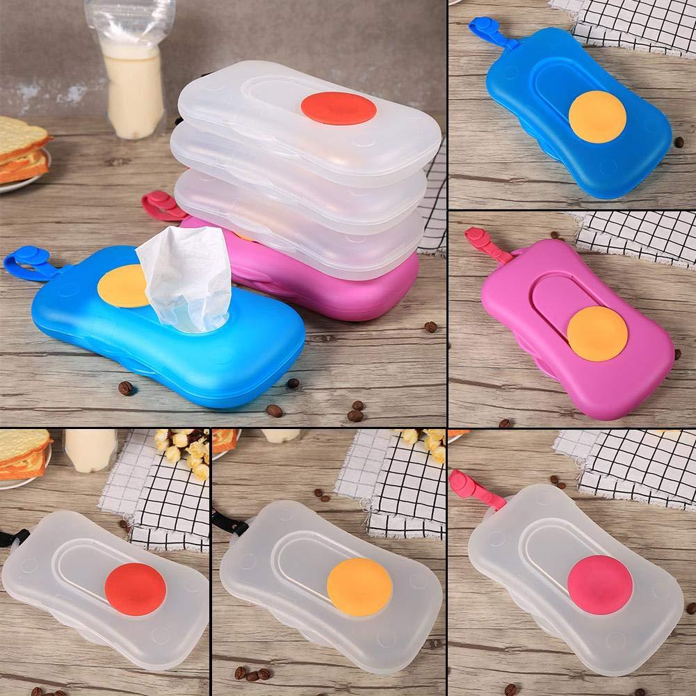 Portable Baby Kid Wipe Storage Box Wet Wipes Holder Dispenser Pram Accessories Outdoor Use #4 Baby Wipe Case