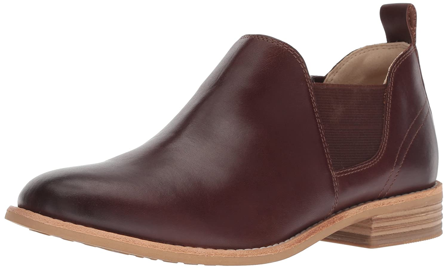 Dark Tan Leather Clarks Womens Edenvale Page Fashion Boot