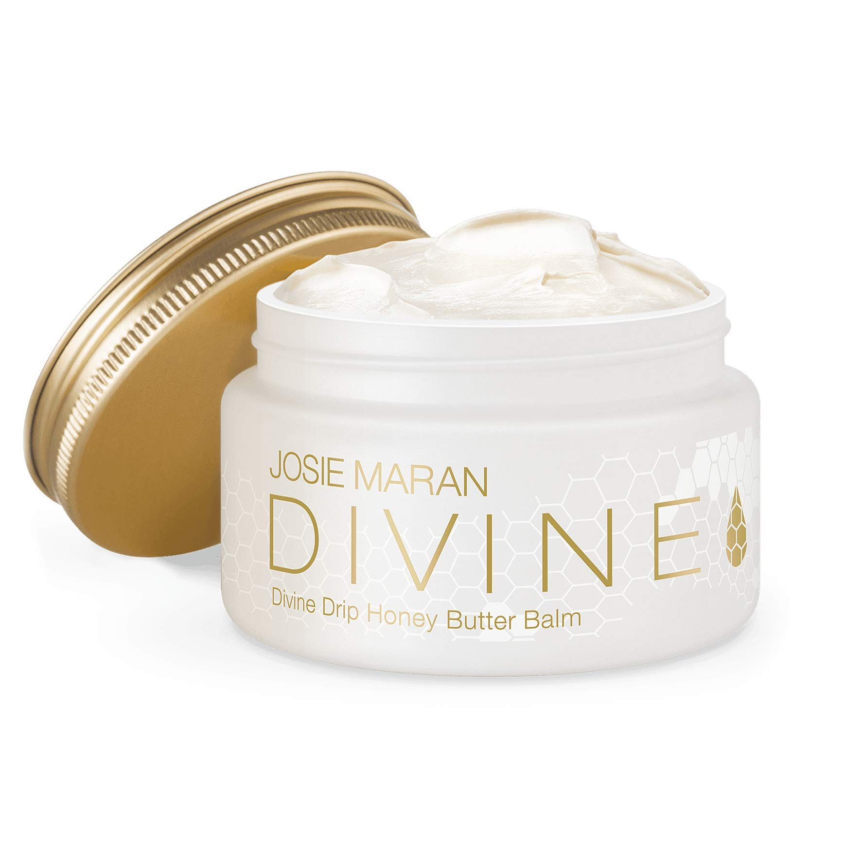 Josie Maran Divine Drip Honey Butter Balm - Seal in Moisture With a Protective Barrier From Whipped Argan Oil and Honey (142g/5oz) - Pure Honey