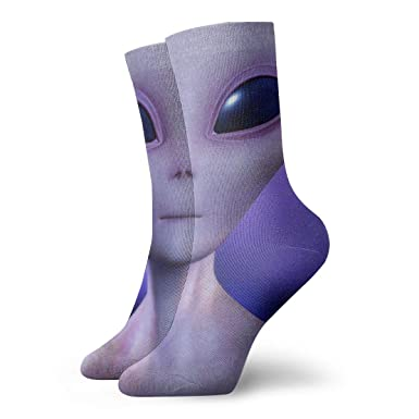Drempad Luxury Calcetines de Deporte Interesting Alien Adult ...