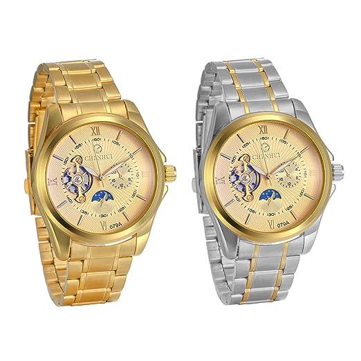 662871133c4b JewelryWe - Reloj de Pulsera para Hombre