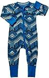 Baby Wondersuit 2 Way Zip Sleep Play Fold Over Cuffs (0-3 Months, Tribal)
