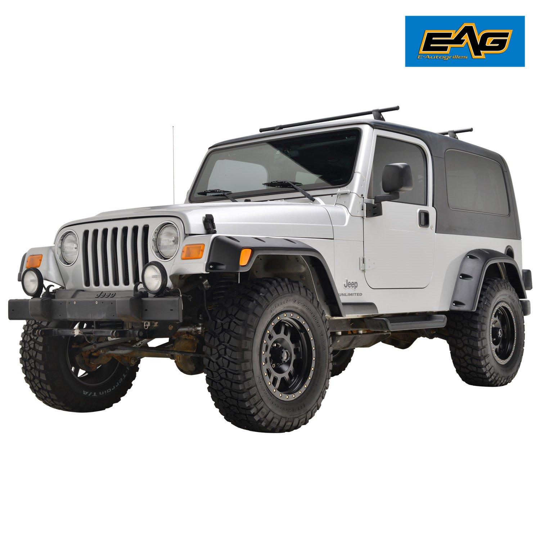 Amazon.com: EAG 97-06 Jeep Wrangler TJ Fender Flares with Mounting Hardware  Pocket Style: Automotive