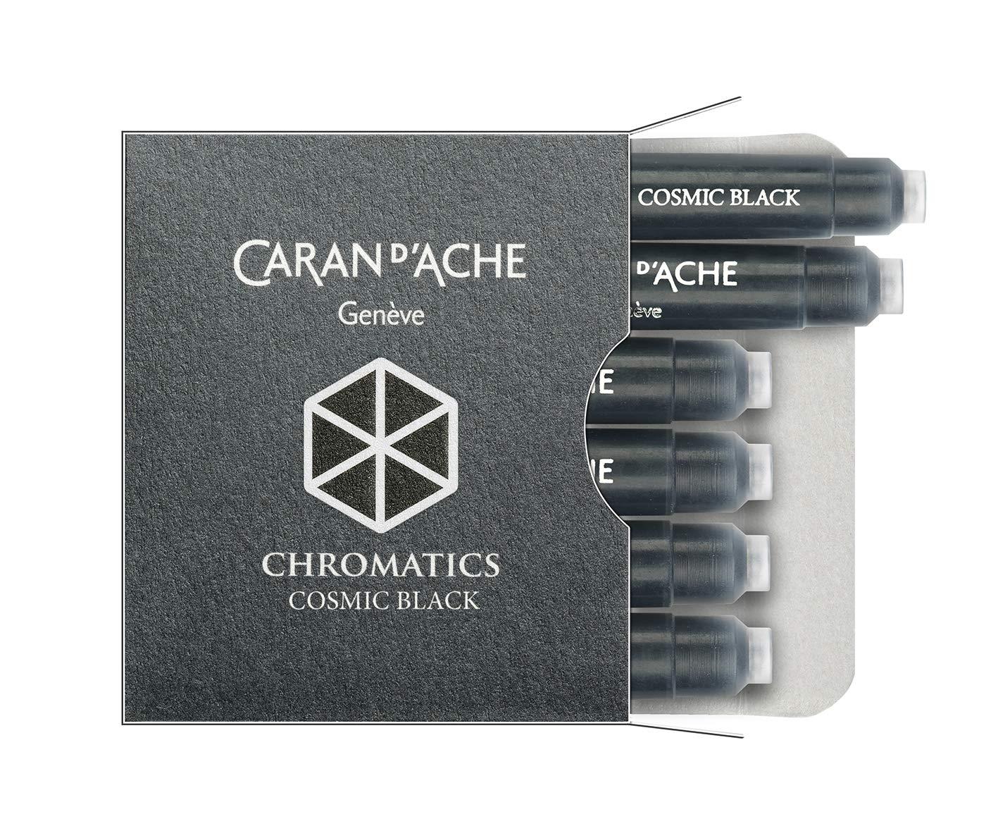 CARAN DACHE Cartucho de tinta cromática negro cósmico paqu