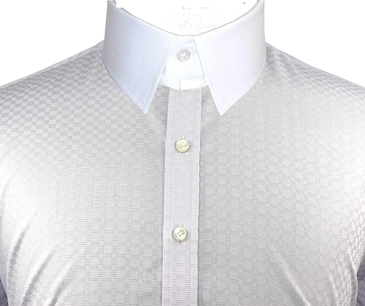 WhitePilotShirts Mens Tab Collar Lilac Stripes Shirt 100/% Cotton Loop Long Sleeves Single Cuff Bond Gents 500-03