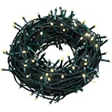 Fairy Lights, Syhonic 30M 200LED Waterproof Fairy String Lights Long LED Outdoor Garden Lights Christmas Lights Lighting 8 Operation Modes for Patio Party Wedding Yard Trees Home - Warm White