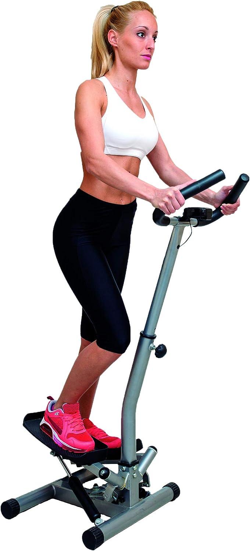 JOCCA Stepper Lateral Con Barra De Sujección/Contador con 4 funciones: scan, tiempo, contador de pasos y calorías consumidas/Pie tubular ajustable en altura.