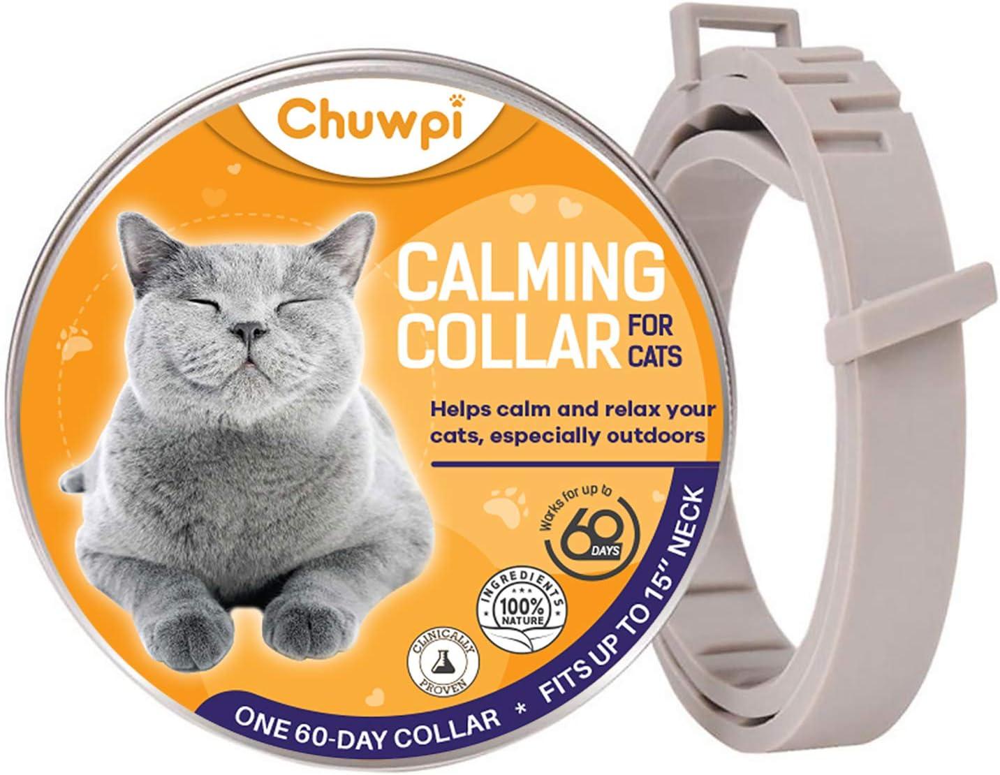 CHUWPI - Collar calmante para Perros – Feromona Calma, Alivio de la ansiedad se Adapta a Perros pequeños, medianos y Grandes, Ajustable y Resistente al Agua con 100% Natural: Amazon.es: Productos para mascotas