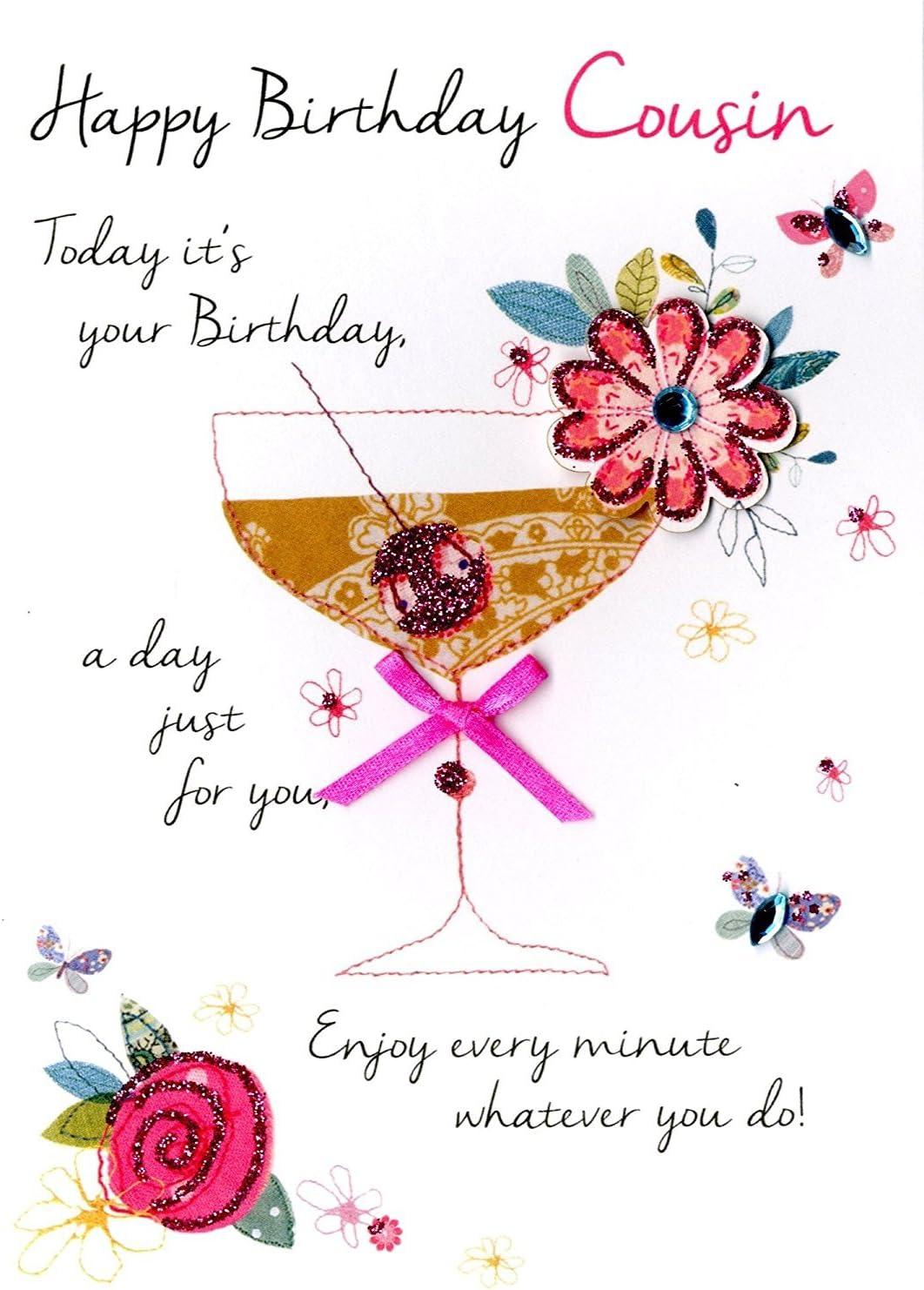 Geburtstagskarte Von Cousin Oder Cousine Fur Madchen Zum 2
