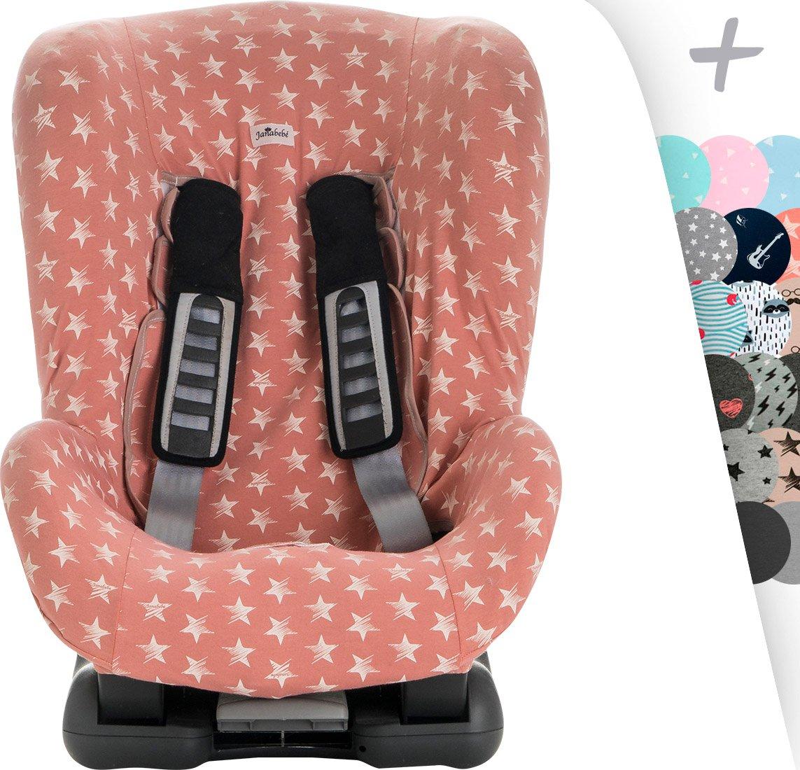 JANABEBE Schutzh/ülle Universal f/ür Auto-Kindersitz Gruppe 1 BLACK RAYO 2 und 3