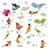 Amazon Price History for:Roommates Rmk1493Scs Disney Fairies Wall Decals With Glitter Wings