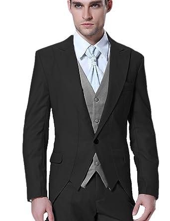 27b572b8ce COOFANDY Mens Suit Floral Party Dress Suit Stylish Dinner Tuxedo Jacket  Wedding Blazer (Black,