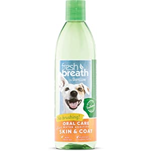Tropiclean Fresh Breath Plus Skin & Coat Oral Care Water Additive Pets