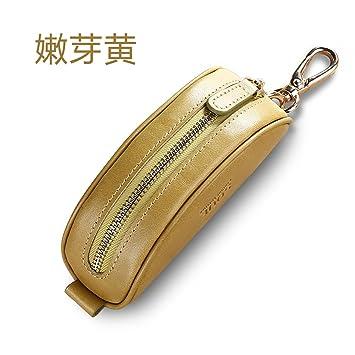 XiaoGao_ Hechos a mano cuero chicas zip clave estuche de ...