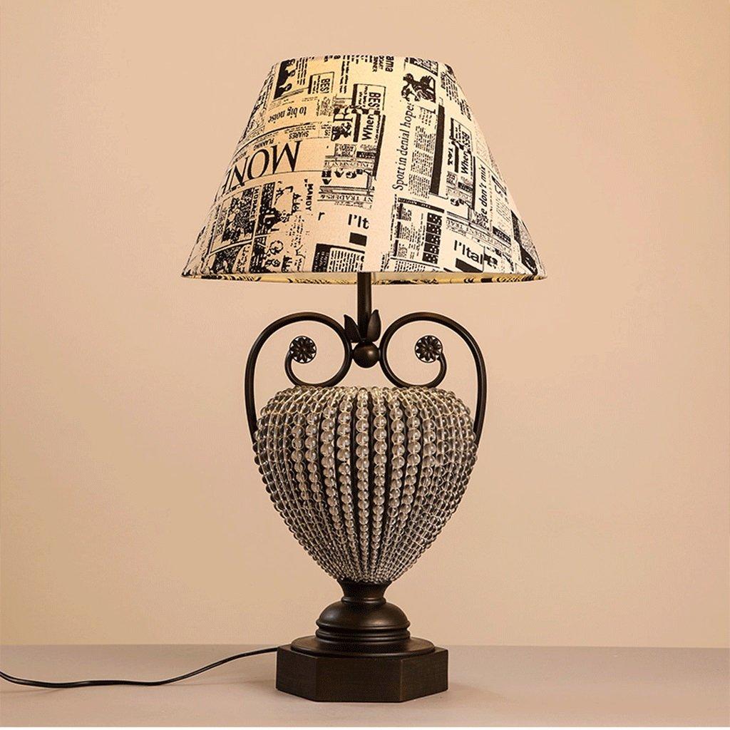 Amerikanisches Land Retro Schlafzimmerlampe Nachttischlampe Tischlampe mit Graffiti Eule Wohnzimmer Studie dekoriert