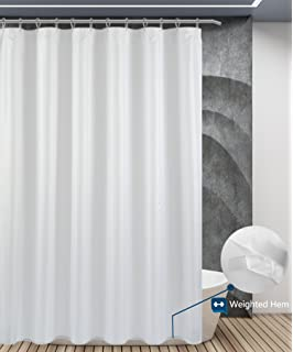 Wotwre Shower Curtain Waterproof Mildew Resistant Polyester Fabric Bath Curtains Bathroom Grey Liner With