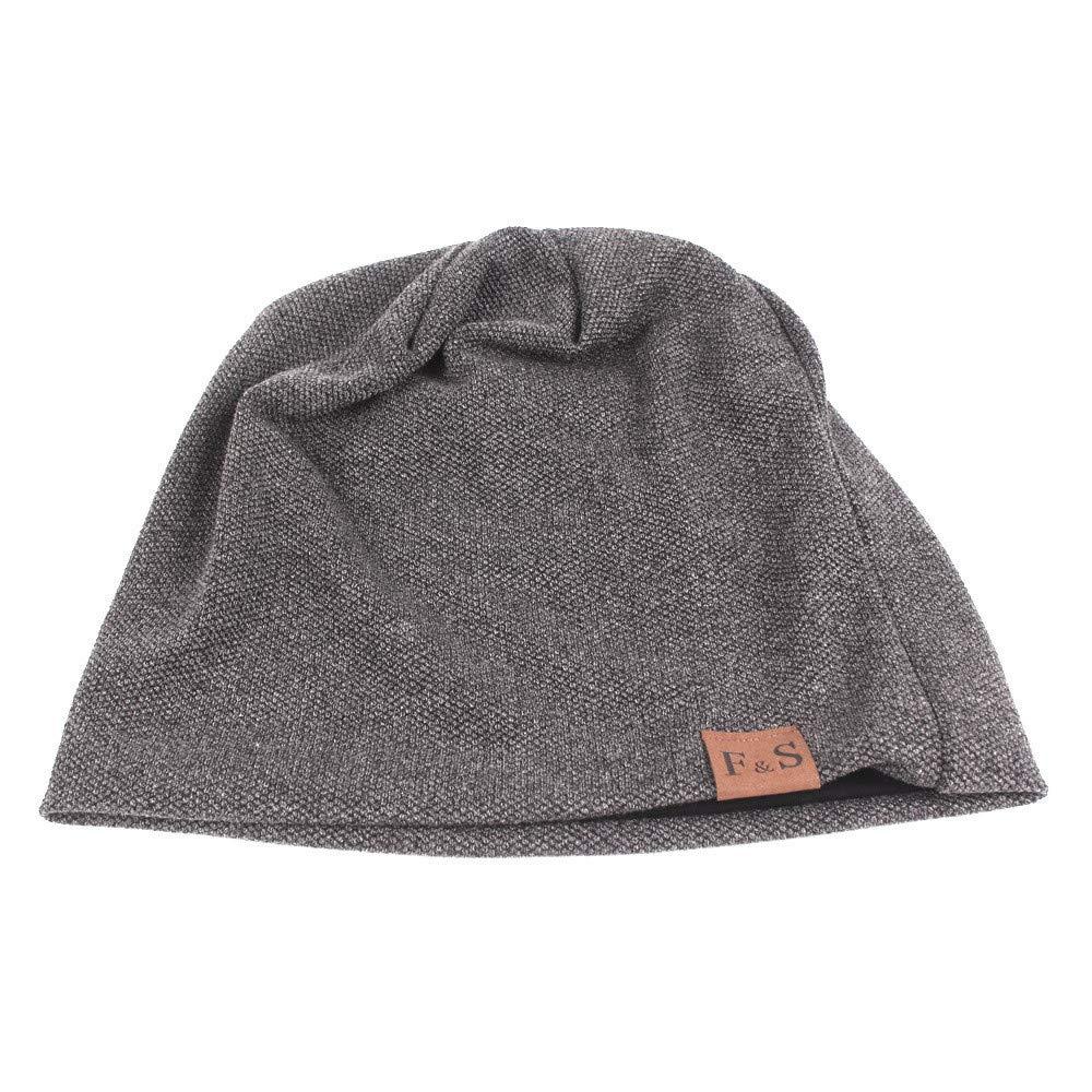 Mann Frauen Winter warme Stapel Kappen Kopfbedeckungs Ohrensch/ützer Hut Baggy Stretchy Slouchy-Sch/ädel-Hut-Skikappe kolila Erwachsene beil/äufige Beanie-Vlies-Unisexkappen