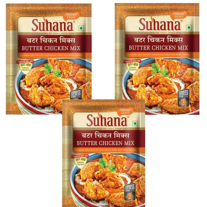 Suhana Butter Chicken Mix,50gm (Combo 0f 3)