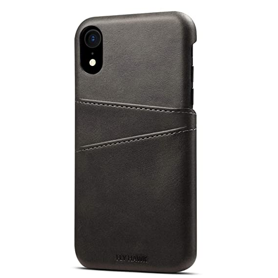 new product 3b5f0 b2f7e Wallet Case Compatible iPhone XR/ 10R, Slim PU Leather Back Case Cover  Credit Card Holder for Apple iPhone XR/iPhone 10R (2018) 6.1 inches Black