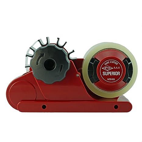 Fácil Cinta dispensador de cinta automática: agua rueda, Rojo, Superior Dispenser