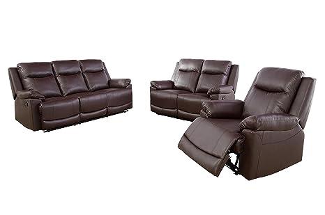 Amazon.com: Lifestyle Furniture GS4780-3PC - Juego de sofás ...