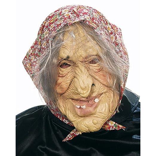 Halloween Hexen Maske Oma Mit Kopftuch Hexe Alte Dame Frau Hexemaske