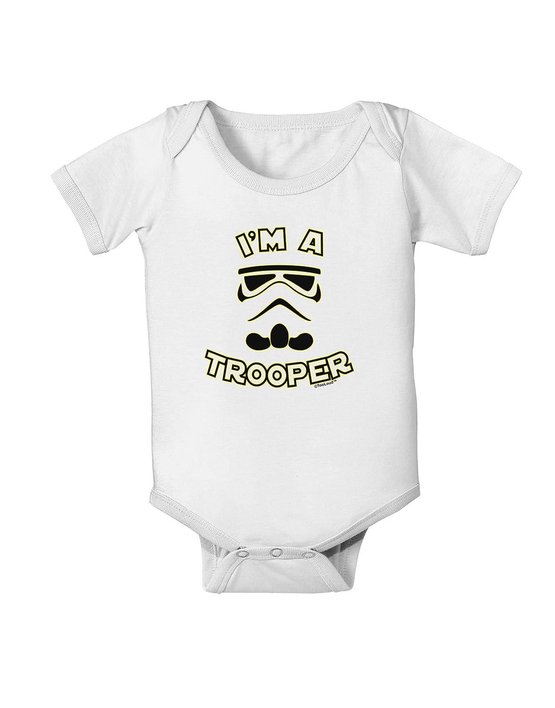 TooLoud Im A Trooper Baby Romper Bodysuit