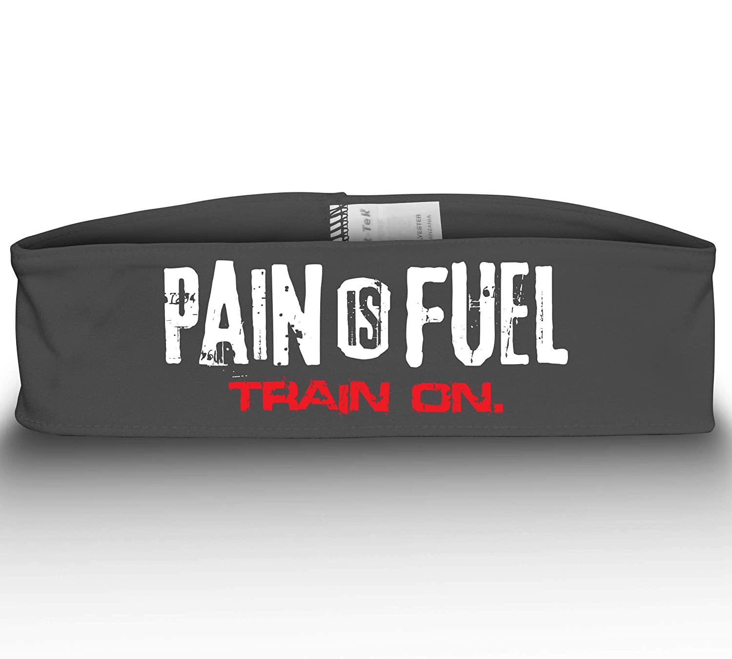 Monsta Clothing Co. Pain is Fuel-923: WT/RD ヘッドバンド  グレー B07NS75WFH