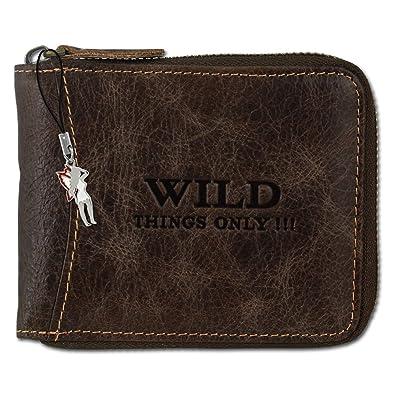 04c1b2b6d9c9e BAG STREET Geldbörse mit Reißverschluss Leder WILD 5267