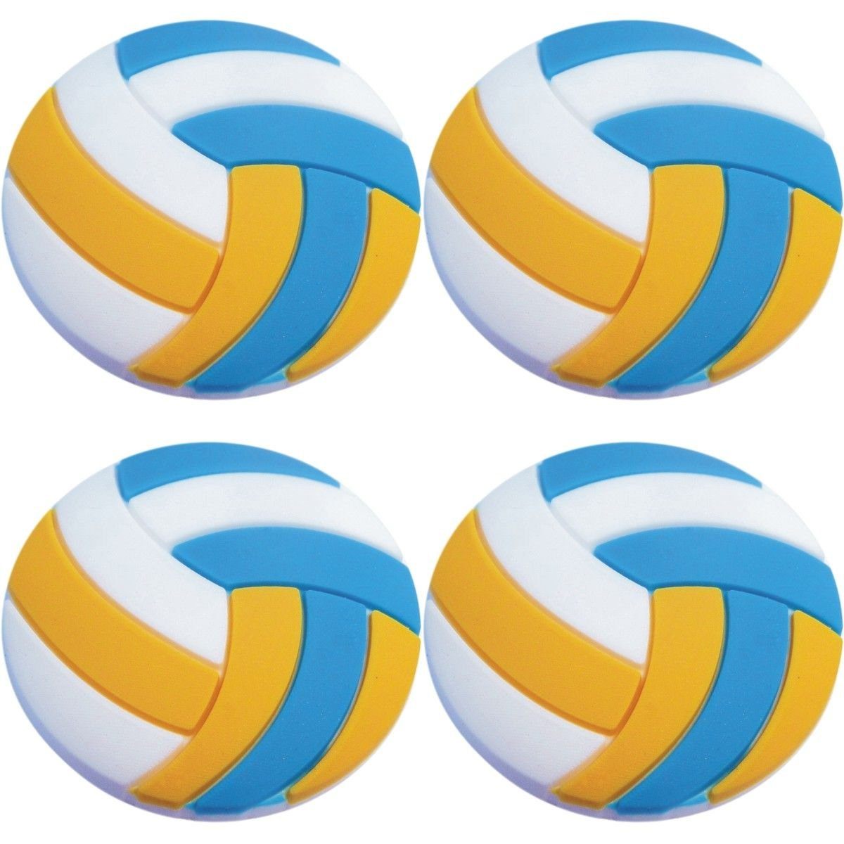 Four (4) of Volleyball Rubber Charms Jibbitz Croc Style