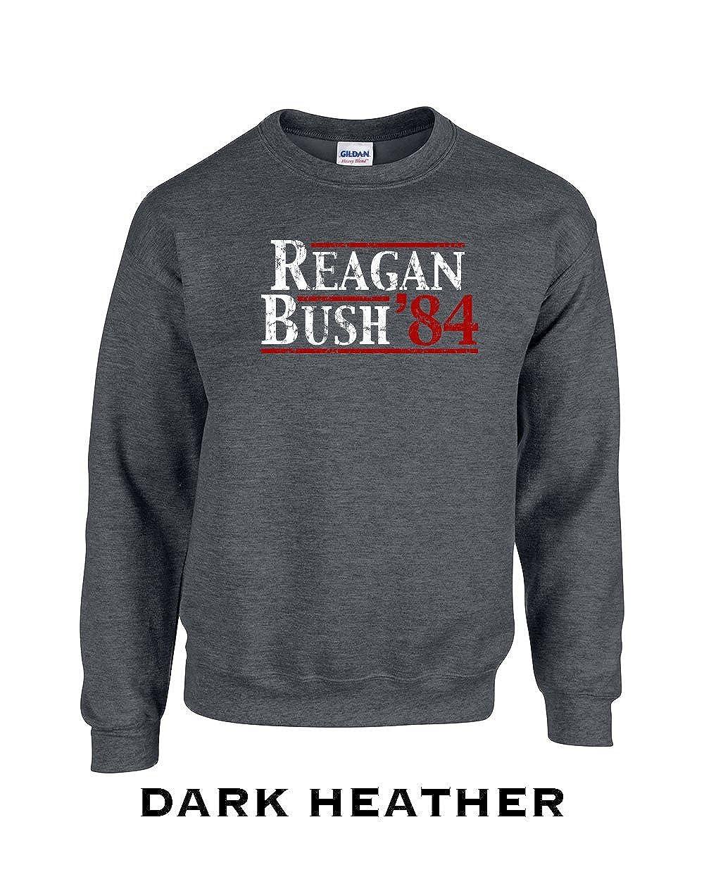 132 Reagan Bush 84 Funny Adult Crew Sweatshirt