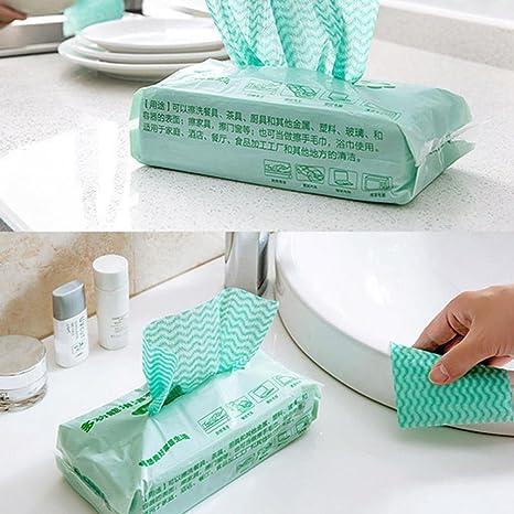 hunpta 80pcs no tejida desechables seco toalla paño trapo de limpieza de aceite absorbente de limpieza