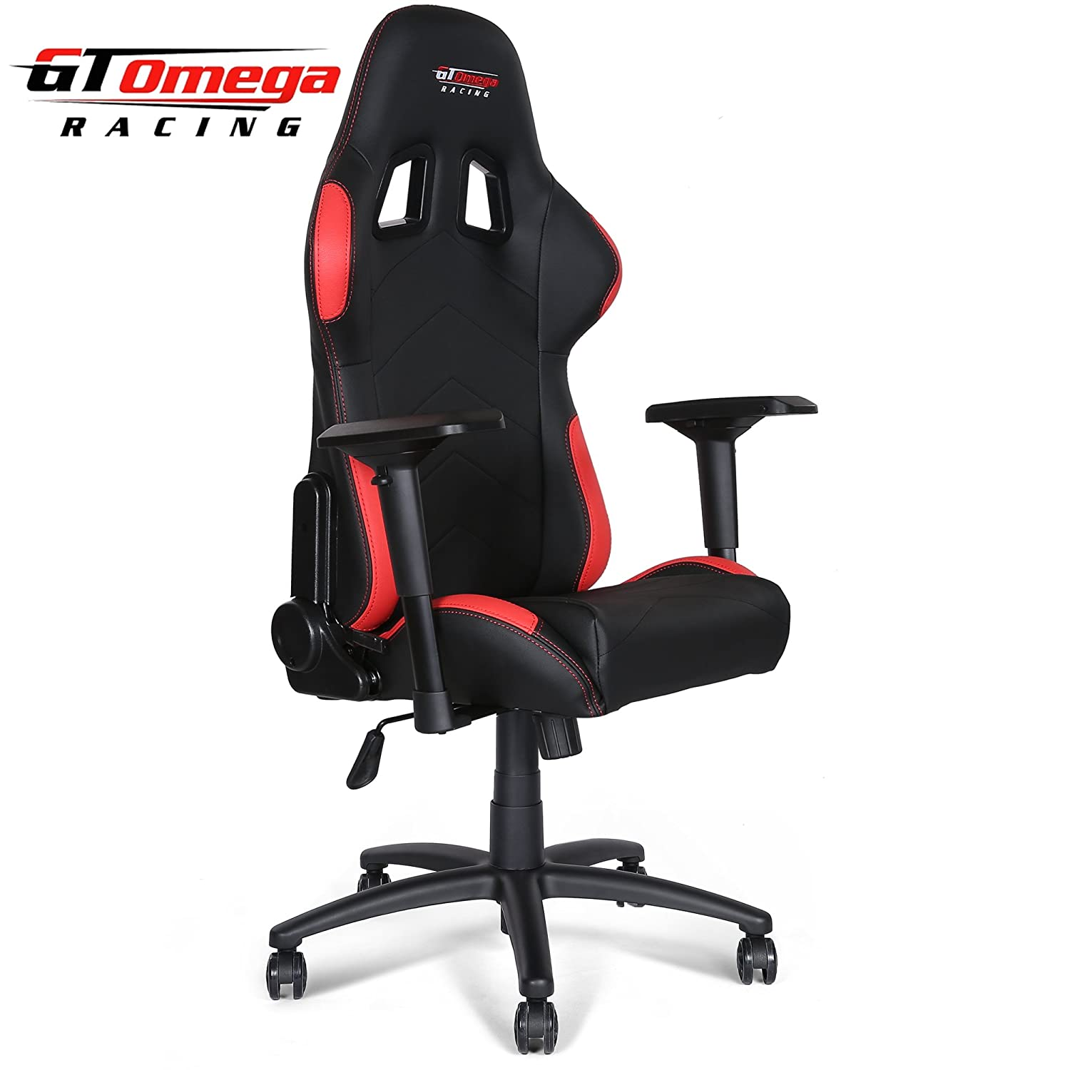 Amazon GT Omega PRO Racing fice Chair Black and Red Leather
