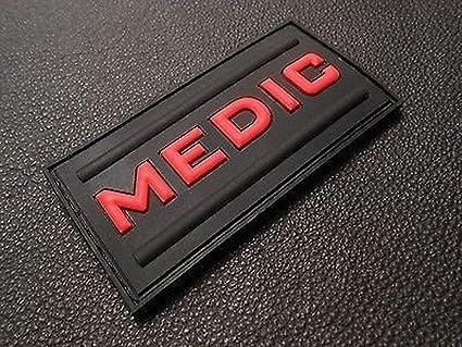 Amazon.com  Medic Rubber 3d Pvc Paramedic Emt Ems Tactical Morale ... b6cdcab987f