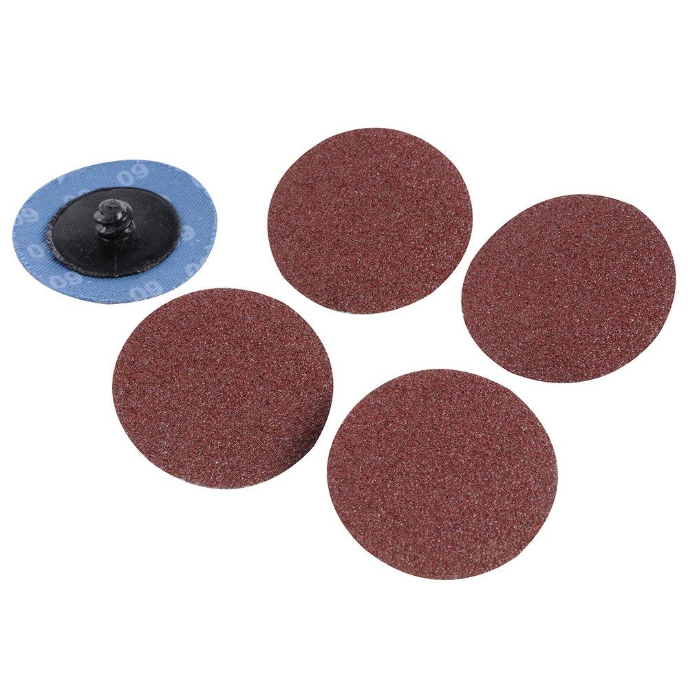 Silverline 100065 Quick-Change Sanding Discs Set, 50 mm, 60 Grit - 5 Pieces SLTL4