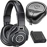 Audio-Technica ATH-M40x Professional Headphones with FiiO A1 Portable Headphone Amplifier + HardBody PRO Full Sized Headphone Case Bundle